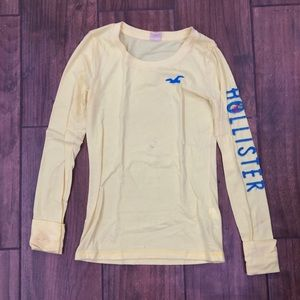 light yellow Hawaiian hollister long sleeve
